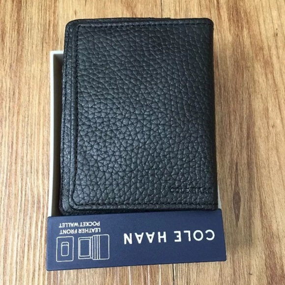 Cole Haan Other - COLE HAAN Pebbled Leather Front Pocket Wallet